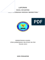Laporan Hasil Kegiatan Bnn 2015