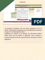 Application Form Aipmt