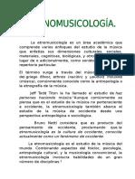 La Etnomusicología
