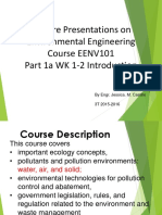Part 1a Wk 1-2 Introduction EENV 101 3T 2015-16