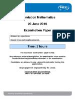 FDM June 2015 Examination Paper - Final