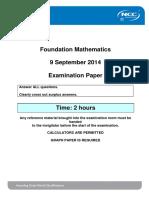 FDM September 2014 Exam - Final