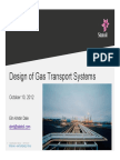 Design of Gas Transport Systems