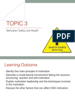 04 - Topic 3 - Motivation Safety and Health