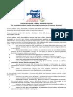 Carta dei Valori per le primarie aperte del centrosinistra a Cantù (CO), 13.11.2016