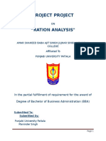 Ration Analyses BBA PROJECT