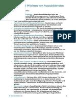 Checkliste Rechte Pflichten Azubis PDF
