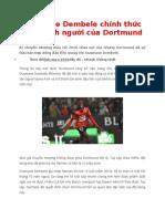 Ousmane Dembele Chinh Thuc Tro Thanh Nguoi Cua Dortmund