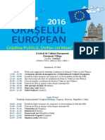 Agenda EU Cultural Festival 2016