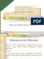 Maksimum Dan Minimum