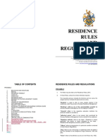 Residence Rules Regulations