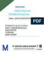 Cover Surat Kontrak