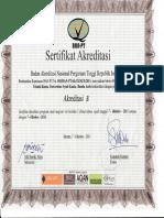 Sertifikat Akreditasi Prodi MTK
