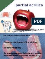 Proteza Partial Acrilica-elemente Componente