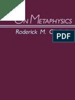Chisholm - On Metaphysics.pdf
