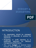 Budget & Budgeting