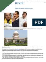 Supreme Court Verdict on Criminal Defamation Laws - The Hindu