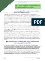 Kamus Lengkap Teknik Inggris Indonesia Edisi Revisi Ahmad Antoni Ikm