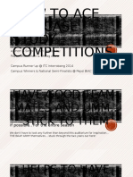 How to Ace the Case Study Competitions