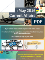 13 May 2016 Current Affair for Competition Exams