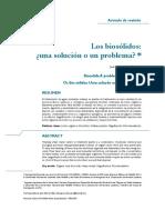 Los Biosólidos ¿una solución al problema?