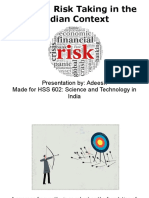 Risk Taking in Indian Context