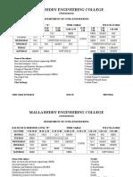 2014 II Sem Timetable