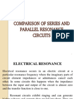 Comparison of Series and Parallel Resonance Circuits