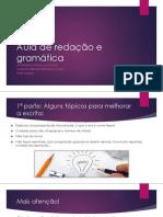 02 - Aula de Gramática e Redação