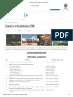 Calendario Académico 2016 - Sede Bogotá UN