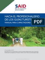 MANUAL DE CAPACITADOR Hacia El Profesionalismo de Guias de Turismo