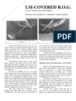 Microfilm ROG - a Free-Flight Model Airplane