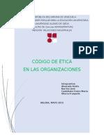 Codigo de Etica en Las Organizaciones