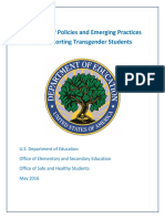 Examples of Policies and Emerging Practices for Supporting Transgender Students