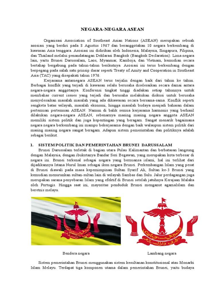 Bendera Dan Lambang Negara Brunei Darussalam