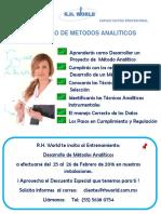 Desarrollo de Metodos Analiticos