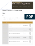 List of Courses by Department _ Indian Institute of Technology Madras