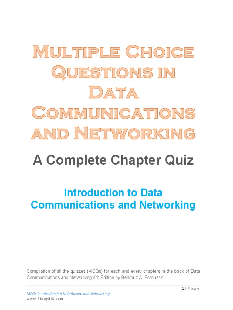 Data communication and networking mcqs