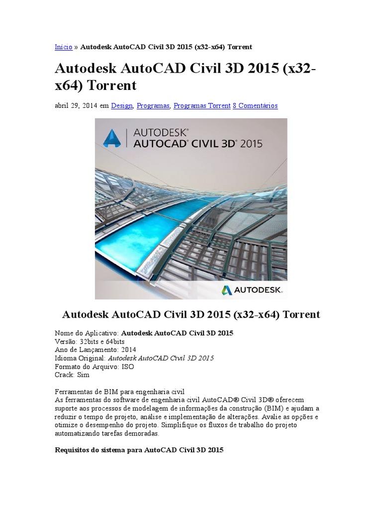 autocad 2013 download crackeado 64 bits torrent
