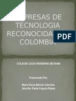 Empresas de Tecnologia Reconocidas en Colombia Ok