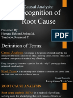 Recognition of Root Cause