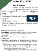 Introduction BD Et SGBD