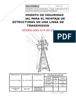 Procedimiento Para El Montaje de Lineas de Transmision
