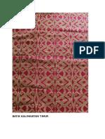Batik Kalimantan Timur