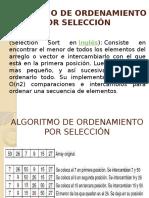 Algoritmo de Ordenamiento Por Selección