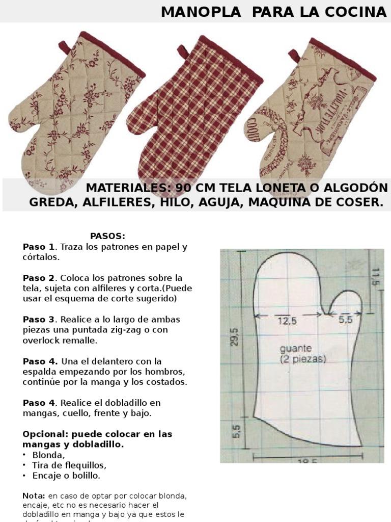 Encantador Patrón Manopla Para Coser Molde - Ideas de Patrones de ...