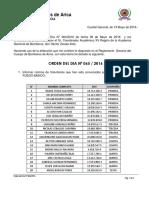 ORD-DÍA 065-2016 Convocatoria Taller Fuego Basico