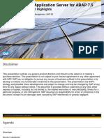 SAP NetWeaver Application Server for ABAP 7.5