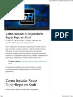 Como Instalar El Repositorio SuperRepo en Kodi