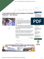 """05-10-2016 """"Las Mujeres Tendrán Trato Prioritario Con Ernesto Robinson"""""""